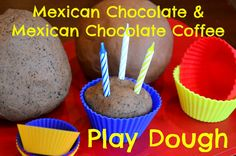Homemade Mexican Chocolate and Mexican Chocolate Coffee Play Dough: this is the most amazing smelling play dough we've ever made...come read all about it, plus read how this awesome play dough made me laugh til I cried! ;)