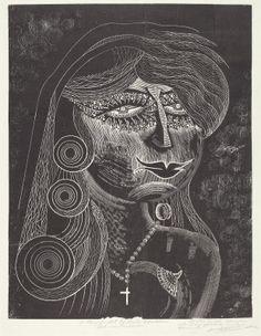 "Victor Delhez (Argentinian), ""Sed non Satiata,"" c. 1945, wood engraving on wove paper #hispanicheritagemonth"
