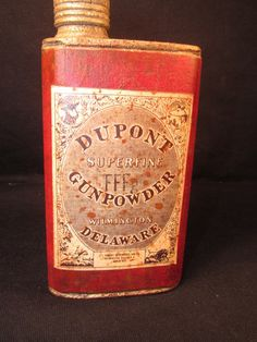 Antique Dupont Superfine Gunpowder Tin Delaware | eBay