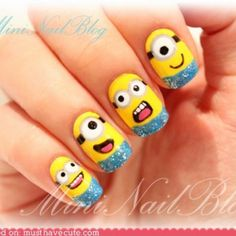 MINION NAILS!!!!! Must do