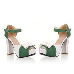 Vogue009 Womens Open Peep Toe High Heel Chunky Heels PU Soft Material Solid Sandals with Bowknot, Green, 36 Vogue009 http://www.amazon.com/dp/B00LGGWMYE/ref=cm_sw_r_pi_dp_BCIZtb1SG5KBS8TH