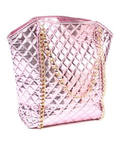 Take a look at this Metallic Baby Pink Alaya Tote by Amrita Singh on #zulily today!