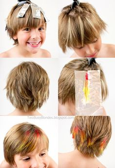 Summer reward. ON FIRE! Fun with hair color! tutorial. DIY hair color - red, orange and yellow