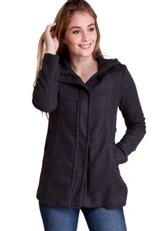 Zippered Shoulder Detail Winter Jacket J30518CH, clothing, clothes, womens clothing, jeans, tops, womens dress