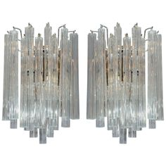 Pair of murano graniglia glass cup sconces of sconces and pair of murano graniglia glass cup sconces of sconces and lighting mozeypictures Images