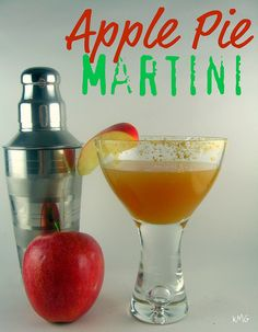 Apple Pie Martini-    1 ounce butterscotch schnapps      1 ounce vodka      2 ounces apple cider      graham crackers and apple slices, for garnish if desired    Instructions        If desired, rim glass with crushed graham crakers and apple slices.      Pour all ingredients into cocktail shaker. Shake, pour and enjoy!
