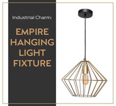 The Empire is an industrial hanging light fixture from Quebec-based design company, Renwil. With its simple geometric form, gold and black tones, and Edison-style bulb, this lamp is perfectly designed to bring the industrial style into the modern era. Which room of the house would you see this fixture fitting best in?