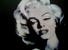 """Saatchi Online Artist: David Scholes; Acrylic, 2012, Painting """"MARILYN"""""""
