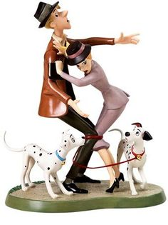 101 Dalmatians WDCC Figurines WDCC Figurines Classics Collection Tangled Up Romance- MUST HAVE NOW!