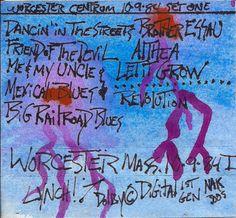 #Worcester MA, #GratefulDead 10-09-1984 (#JohnLennon's 44th birthday) original tape case art by J.Blueberries