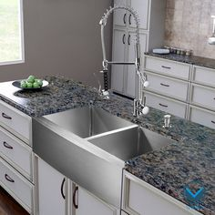 Vigo All-in-one 36-inch Farmhouse Stainless Steel Double Bowl Kitchen Sink and Chrome Faucet Set | Overstock.com Shopping - Big Discounts on...