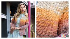 Seasonal Very Light Cardigan Making (Armor Knit) - Saisonale leichte . Knitting Stitches, Baby Knitting, Knitting Patterns, Crochet Patterns, How To Purl Knit, Knit Purl, Moda Emo, Angora, Batik
