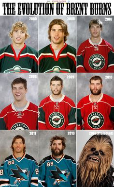 Brent Burns' hilariously terrifying NHL headshot; he's now more beast than man (PHOTO) | Puck Daddy - Yahoo! Sports