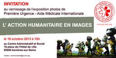 """""""L'action humanitaire en images"""" Invitation vernissage"""
