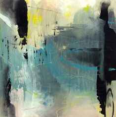 """Suspended Revelation-Abstract by Joan Fullerton Acrylic ~ 24"""" x 24"""""""