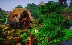 My farm on my completely converted Mushroom Island :) : Minecraft