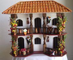 Inspiration from Colombian Artisans Pottery Houses, Ceramic Houses, Diy Casa, Minimalist Home Interior, Dollhouse Kits, Spanish House, Marianne Design, Miniature Houses, Fairy Houses