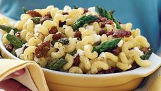Macaroni with Sausage and Asparagus. Total Cost: $6.00