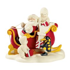Department 56 Snowbabies Santa Claus Is Comin' To Town 69987 *** New offers awaiting you  : Collectible Figurines for Christmas