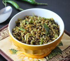 Erivum Puliyum: Mushroom Thoran ( Kerala style Stir Fry)