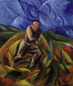Sandro Chia (Italian, b. 1946), Achilles and the Tortoise Paradox, 2000. Oil on canvas, 70 x 60 cm.