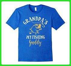 Mens My Fishing Buddies Call Me Grandpa Shirt, Cute Father's Day 2XL Royal Blue - Holiday and seasonal shirts (*Amazon Partner-Link)