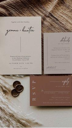 Bohemian Wedding Invitations, Wedding Invitation Card Design, Minimalist Wedding Invitations, Wedding Invitation Inspiration, Boho Wedding, Affordable Wedding Invitations, Beautiful Wedding Invitations, Invitation Ideas, Invitation Suite