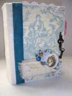 $40.00 Handmade envelope scrapbook album vintage theme