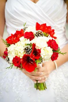 Festive Christmas Wedding Ideas | Wedding Planning, Ideas & Etiquette | But with darker red flowers