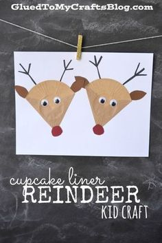 Cupcake Liner Reindeers - Kid Craft Cupcake Liner Kid Craft Roundup - all the links to paper crafts on Glued To My Crafts that use cupcake liners, in ONE epic post! Christmas Activities For Kids, Summer Crafts For Kids, Mothers Day Crafts For Kids, Art For Kids, Summer Diy, Toddler Crafts, Preschool Crafts, Kids Crafts, Cupcake Liner Crafts