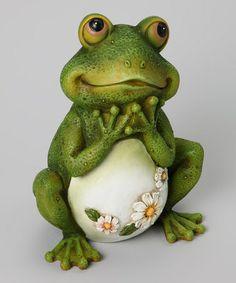 Love this Frog Garden Statue on #zulily! #zulilyfinds