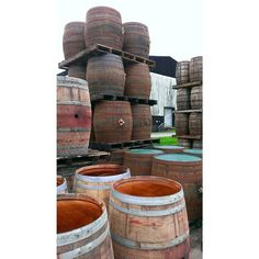 Barrels ready to be filled at The Balvenie
