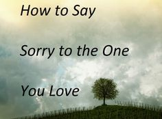 Saying sorry = the best skill to have.