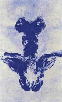 yves klein / ANT 49 / 1961 / pigment and synthetic resin on canvas Nouveau Realisme, Yves Klein Blue, Art Informel, Medieval Paintings, Environmental Art, French Artists, Jasper Johns, Land Art, Les Oeuvres