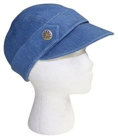 008dbc85fc8 Chanel Blue Denim Boho Gold Tone Quilted Cc Button Womens Hat 57 Hsb11.  Free shipping