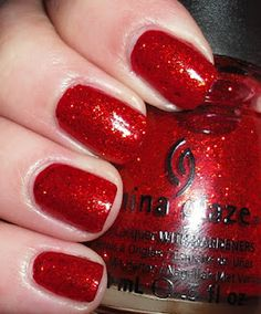 China Glaze Ring in the Red:  Makes me think if wizard of oz!