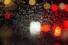 빛, 비, 빗물, 반영, 흐름, 물, 어두운, 밤, 창, 유리, 일상