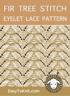 The stitch would be great for hats, scarves and bags! Ladies Cardigan Knitting Patterns, Lace Knitting Stitches, Lace Knitting Patterns, Knitting Charts, Stitch Patterns, Knitting Ideas, Creative Knitting, Knitting Accessories, Crocheting