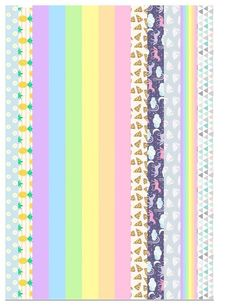 adesivo para bullet jornal rainbow / cheerful patterns printable on sticker paper as washi tape or as borders for your planner / journal. Journal Stickers, Printable Planner Stickers, Wash Tape, Bullet Journal Washi Tape, Washi Tape Planner, Washi Tape Crafts, Bijoux Diy, Sticker Paper, Tapas