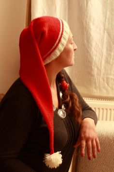 New years New christmas long red hats Celebration hat by NesrinArt, $45.00