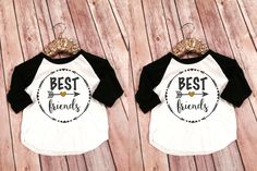 Best Friends Kid's Raglans, Best Friends Forever Shirts, Matching Mommy and Me BFF Shirts, Custom Best Friend Shirts, BFF Matching Shirt set by SnowSew on Etsy https://www.etsy.com/listing/253592518/best-friends-kids-raglans-best-friends
