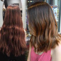 "Gabrielle Frosinos on Instagram: ""T R A N S F O R M ✂️ #hairbysirengabrielle #sirensalon #asirenslifeforme #vancouverwa #portlandhair #pdxhair #balayage #beachywaves #thebusinessofbalayage #hef #americansalon #modernsalon #hairjoi #joico #aline #ombre #sombre #hairshake #beforeandafter"""