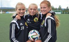 Julie Robertsen (f.v), Mia-Emilie Sætra og Caroline Stenbakk gleder seg til FA14. (Foto: Espen Bråthen )