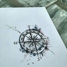 Tattoo Rosa de los vientos