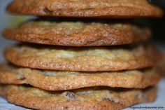 Thin and Chewy Chocolate Chip Cookies - Hugs and Cookies XOXO