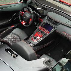 Lamborghini Aventador Cockpit  Yay or Nay?  Photo by: @tim.spot  #kingzmotors #lamborghini #aventador #interior