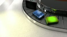 Airport baggage carousel. - HD stock footage clip