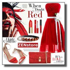 """ZENstore Red Jasper Shamballa Bracelet"" by asiyaoves ❤ liked on Polyvore featuring Zara, ESPRIT, Shamballa Jewels, Giorgio Armani, NARS Cosmetics, Dolce&Gabbana, Zimmermann and Zenstore"