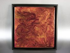 Framed Copper Artwork: 12x12 metallic Abstract Painting. $130.00, via Etsy.