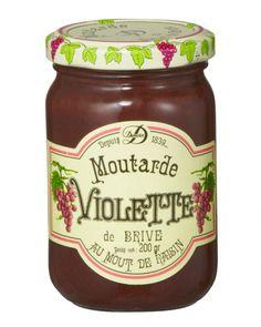 Moutarde violette de Brive par Maison Denoix